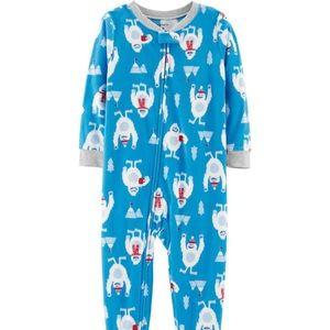Carter's 1-Piece Abominable Snowman Fleece PJs 7